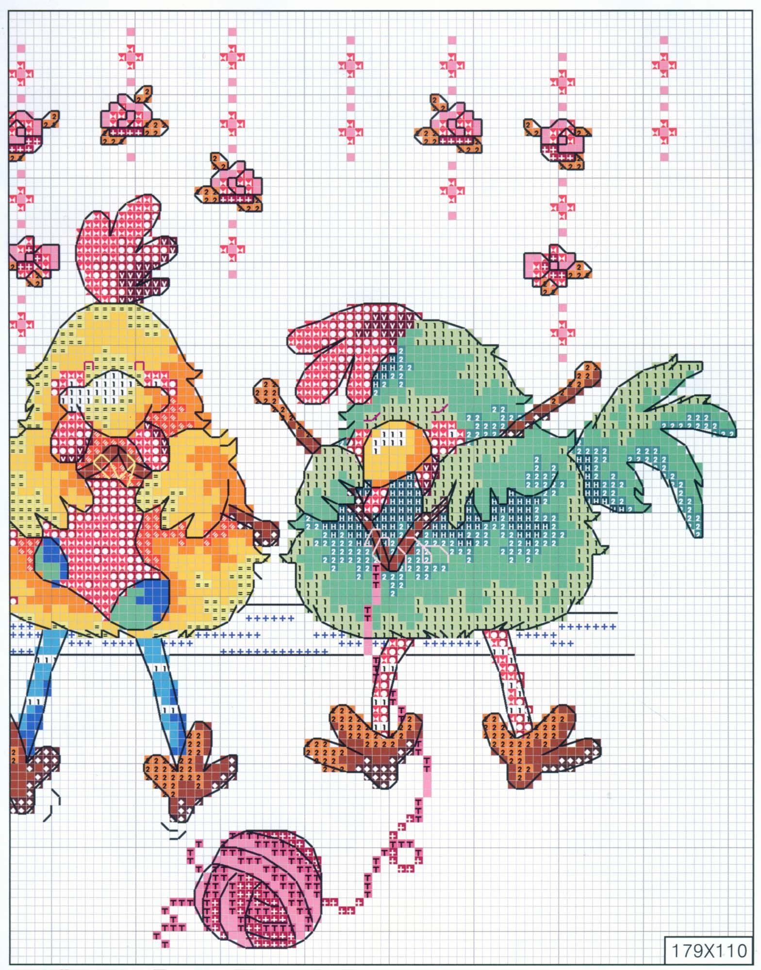 Вышивка с петушком. Схемы для детей и взрослых - Вышивание 57