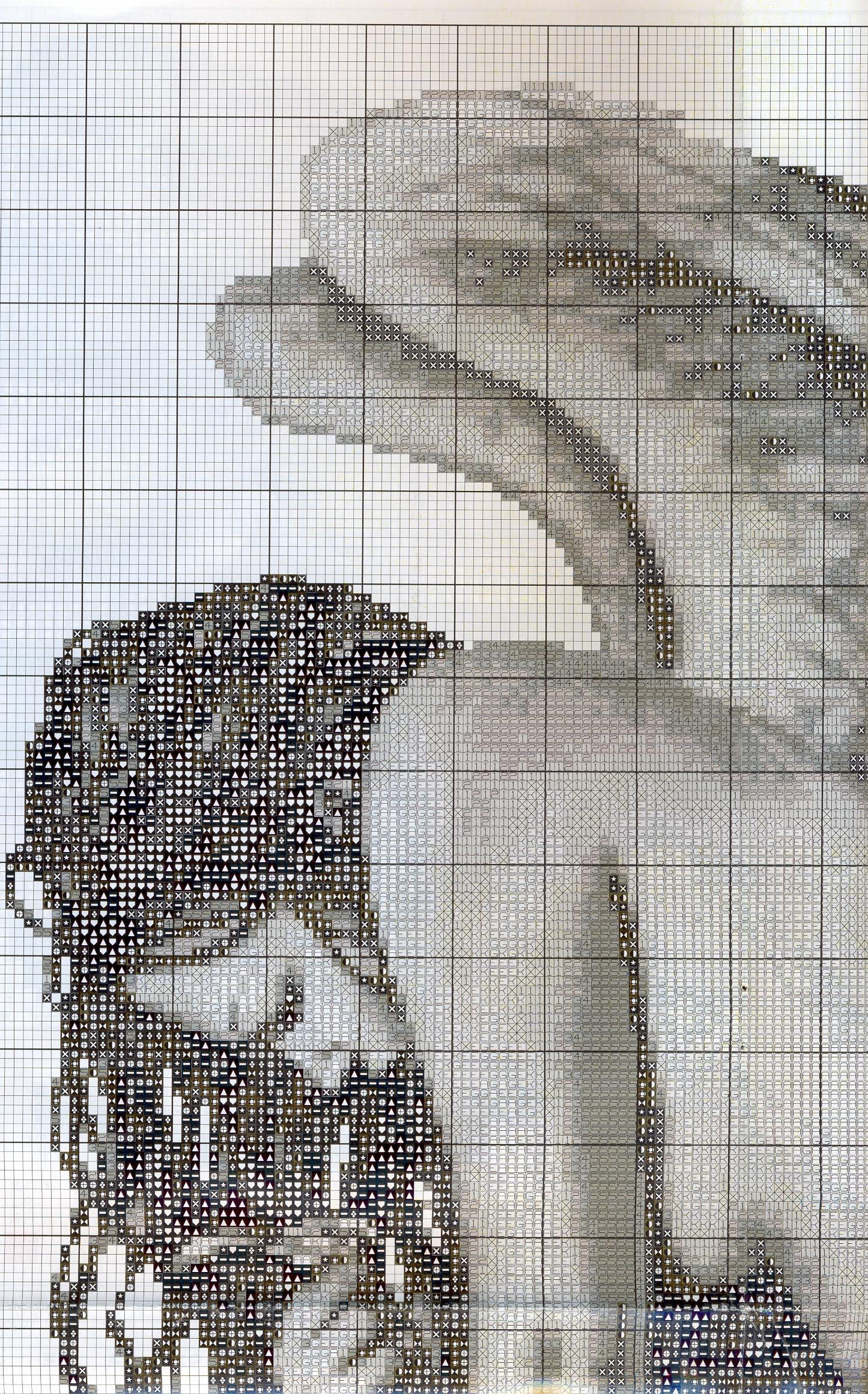 Вышивка крестиком ангел черно белые вышивки