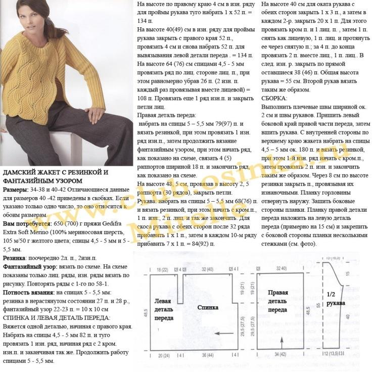 Схемы вязания спицами жакеты и кардиганы 97