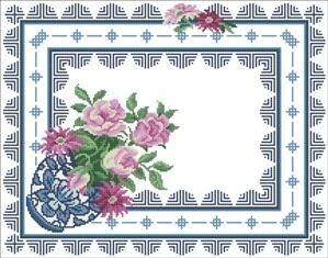 Описание: Схема для вышивки крестом - Подушка цветы в формате xsd.  Разместил(а) .